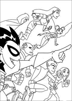 Desenhos para colorir Os Jovens Titãs 23