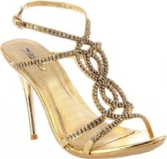 £44.95  Shoehorne Ocean-11 - Womens Gold Rhinestone/Diamante Encrusted Strappy Knotted front Stiletto High Heels Evening Sandals - Avail in Ladies Shoe Size 3-8 UK: Amazon.co.uk: Shoes & Accessories