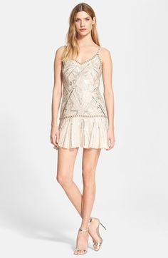 Parker 'Devany' Beaded Drop Waist Dress available at #Nordstrom