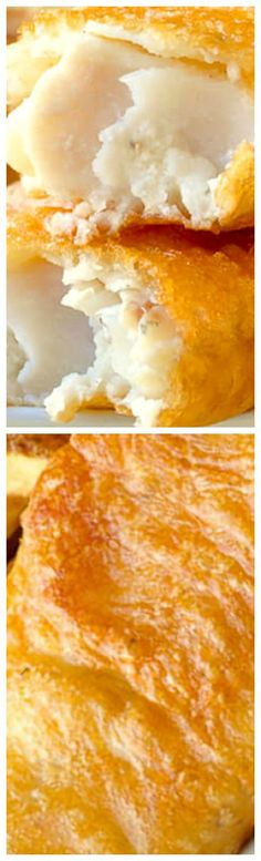 Learn The Secret To Super Crispy Fish and Chips ~ After years of experimenting I've perfected my homemade version of fish and chips that uses part rice flour in the batter recipe for guaranteed crunch.