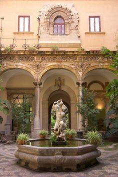 Courtyard, Museo Salina, Palermo