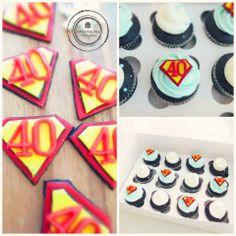 Superman theme cupcakes