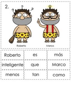Comparisons Spanish Sentence Writing Station Activities
