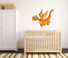 Dragon Baby Removable Wall Decal Sticker Graphic