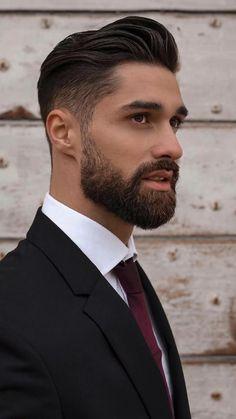 Stylish Mens Haircuts, Older Mens Hairstyles, Haircuts For Men, Beard Styles For Men, Hair And Beard Styles, Long Hair Styles, Beard Cuts, Italian Hair, Short Beard