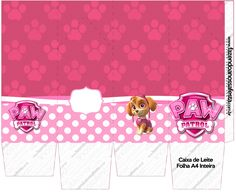 Caixa de Leite Patrulha Canina para Meninas