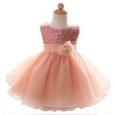 884ae5b7100207 Baby meisje dress bruiloft doop prinses jurken voor bloem meisjes kids  kleding pasgeboren 1 jaar verjaardag
