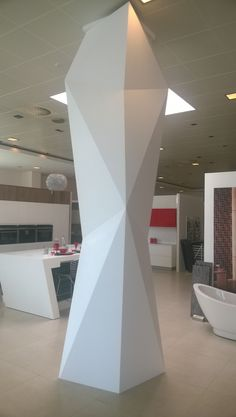 Corian Solid Surface, Pillar Design, Interior Columns, Plafond Design, Trophy Design, Marble Columns, Futuristic Interior, Column Design, False Ceiling Design