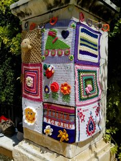 Urban knitting Sevilla mayo 2013. Jardines de Murillo.