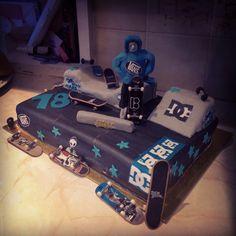 Skatepark Cake 18th birthday