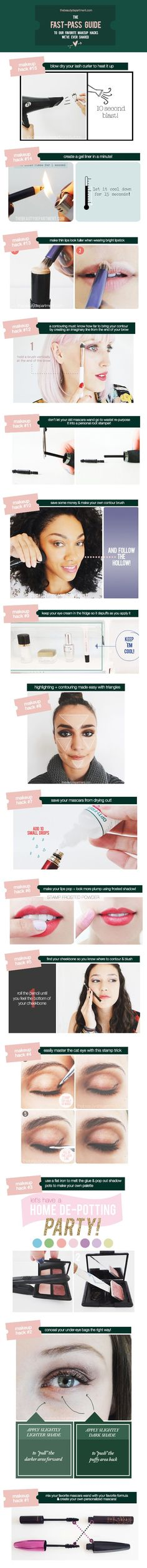 Our Top 15 Makeup Hacks!