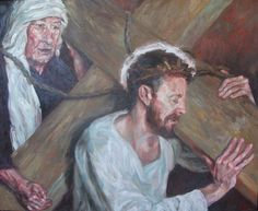 Rob Floyd Fine Art - Stations of the Cross, Simon Helps Carry The Cross (Fifth Station)84cm x 104cm