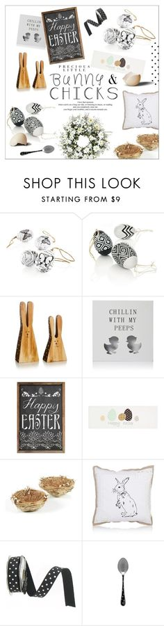 """""""Happy Easter"""" by szaboesz on Polyvore featuring interior, interiors, interior design, home, home decor, interior decorating, Agent Provocateur and bunnieschicks"""