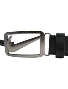 Nike Golf Mens Classic Reversible Swoosh Logo Leather Belts with Gunmetal buckle