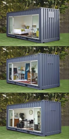 Need extra room? Rent a shipping container for your backyard #containerhome #shippingcontainer