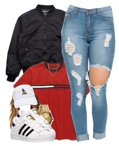 """4/10/16"" by yasnikki ❤ liked on Polyvore featuring BOY London, Nixon and adidas"