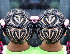Scalp braids with designs