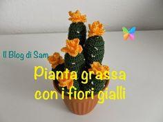 Spiegazione della pianta grassa all'uncinetto con i fiori gialli - YouTube
