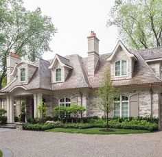 Country Home Exterior french home with gray shutters, transitional, home exterior | home