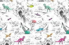 Adventure Toile Pop fabric by pattern_state on Spoonflower - custom fabric