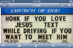 On church message board