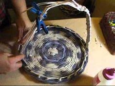 ▶ ▬► Плетение из газет ручек. Часть III. / Handles for baskets - YouTube