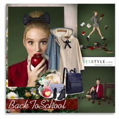 """""""YesStyle - BackToSchool"""" by shinee-pearly ❤ liked on Polyvore featuring Fairyland, Colorful Shoes, BackToSchool, outfit, yesstyle and productPageSectionTop"""