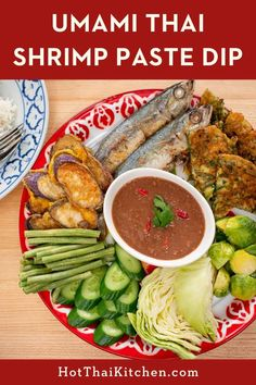 Funky Shrimp Paste Dip - Nam Prik Gapi - Hot Thai Kitchen Shrimp Dip, Shrimp Paste, Thai Recipes, Seafood Recipes, Homemade Sauce, Easy Food To Make, Fish And Seafood, Sauces, Dips