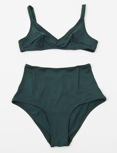 Laura Urbinati 50's High Waist Bikini- Teal