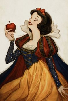 Snow White and her red apple Disney Princess Drawings, Disney Princess Art, Disney Fan Art, Disney Drawings, Disney Love, Snow White Drawing, Snow White Art, Snow White Disney, Snow White Apple