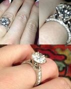 Check out Crystal Harris' engagement ring from Hugh Hefner! That is some serious bling.