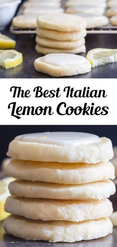 Perfect melt in your mouth Lemon Cookies. If you love anything lemon then you are going to love these cookies. Light and easy to make, with a tasty lemon glaze, they are sure to satisfy any lemon lover! This easy lemon cookie recipe is great for summer or anytime you fancy a citrusy treat! #lemoncookies #cookies Baking Recipes, Cookie Recipes, Dessert Recipes, Bar Recipes, Cookie Desserts, Fruit Recipes, Recipies, Italian Lemon Cookies, Lemon Cookies Easy