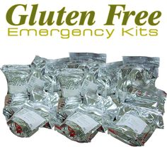 Gluten Free Emergency Kits has developed a complete gluten-free emergency survival kit that supplies the necessary ingredients to provide meals for a family of four people for seventy-two hours. Emergency Preparation, Survival Prepping, Emergency Preparedness, Emergency Kits, Survival Stuff, Survival Kits, Survival Food, Foods With Gluten, Gluten Free Recipes