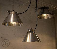Polish Polished Pendant Lamp, 1970s for sale at Pamono Industrial Ceiling Lights, Design Show, Pendant Lamp, Vintage Designs, Crates, 1970s, Vintage Items, Polish, Home Decor