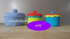 pattern crocheted box / crochet pattern / pdf