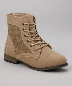 Look what I found on #zulily! Taupe Lace-Up Chapter Boot #zulilyfinds