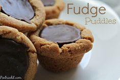 Peanut butter Chocolate Fudge Puddles