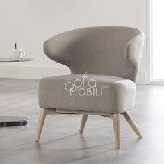 Fauteuil design gris BILBO 2