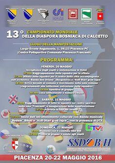 A Piacenza  il XIII Campionato Mondiale di calcetto della diaspora bosniaca