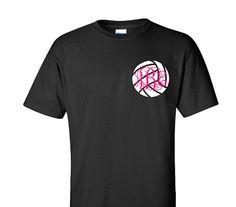 Monogram Volleyball Shirt Adult T-Shirt Sports by VinylDezignz