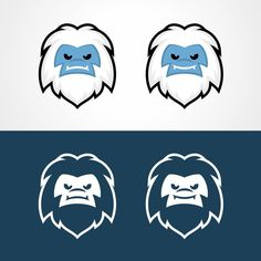 Vector illustration of Yeti face for winter apparel company by sonypahlevi