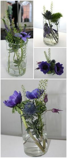 fint bordpynt der er let at lave Flower Table Decorations, Table Flowers, Vases Decor, Plant Decor, Wedding Decorations, Simple Flowers, Diy Flowers, Flower Vases, Wedding Flowers