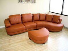 Living Room Sets Leather Orange Sofa Design.  #furniture #comfortable #chair #homefurniture #interiordesign #homedecor