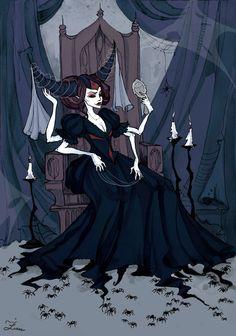 Spider Queen Art Print by Iren Horrors - X-Small Abigail Larson, Spider Art, Giant Spider, Spider Queen, Gothic Wallpaper, Queen Art, Goth Art, Classic Monsters, Creepy Art