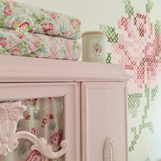 @ Shabby Roses Cottage: Cross-stitch wall art