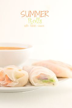 Summer rolls with tahini sauce - minimaleats.com