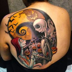 The nightmare before Christmas tattoos come from a fantastic World filled with creepy, wonderful characters and a feast of adventure thrills and Magic. The