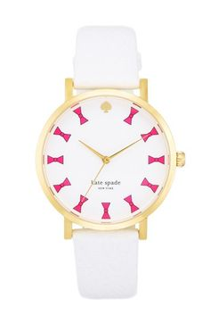 kate spade new york 'metro grand' bow dial watch, 38mm available at #Nordstrom
