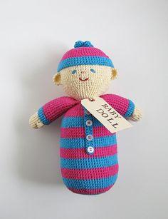 Handmade baby doll $55.00, via Etsy.