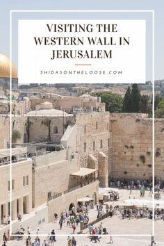 A casual visit to the Western Wall in Jerusalem. Asia Travel, Solo Travel, Travel Guides, Travel Tips, Places To Travel, Travel Destinations, Western Wall, Israel Travel, Luxury Travel